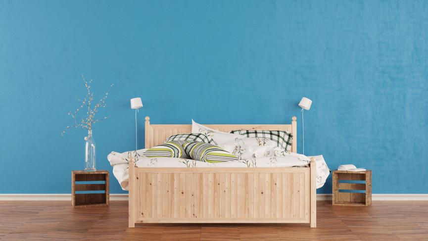 Bett aus Holz