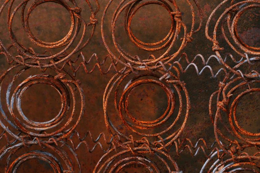 Matratze entsorgen - rostige Federn