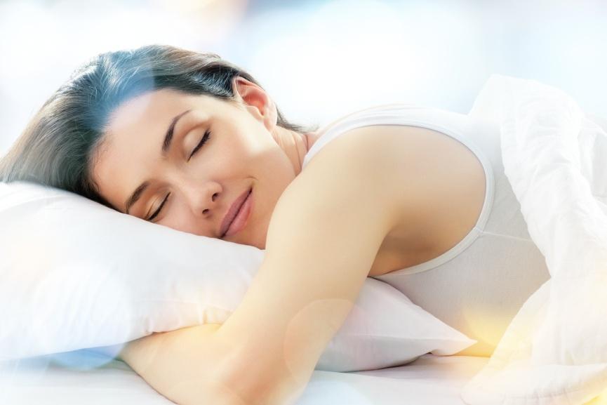 Schlafsysteme Frau am schlafen
